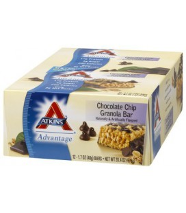 Atkins Advantage Bars, Chocolate Chip Granola, 1.7-Ounce Bar