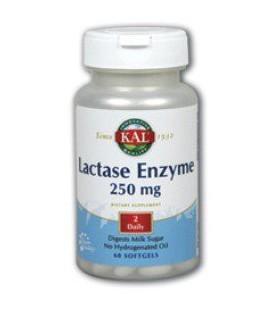 KAL - Lactase Enzyme, 250 mg, 60 softgels