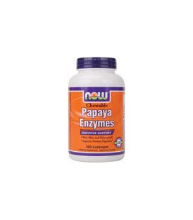 Now Foods Papaya Enzyme, 360 Chewable Lozenges