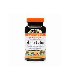 Holista Sleep Calm L-Theanine 5HTP and Melatonin Chewable Ta