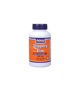 Now Foods Slippery Elm 400mg, Capsules, 100-Count
