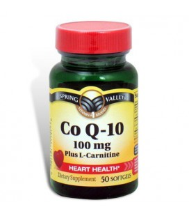 Spring Valley - Co Q-10, Plus L-Carnitine 100 mg, 50 Softgel