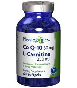 Coenzyme Q10 w/ L-Carnitine 60 Softgels by Physiologics