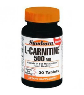 SUN DOWN L-CARNITINE 500MG 44854 30 CAPSULES