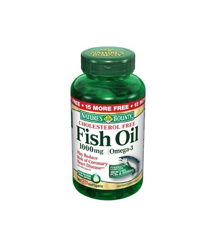 Nature 39 s bounty fish oil 1000 mg cholesterol free omega 3 s for Is fish oil good for cholesterol