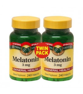Spring Valley - Melatonin 3 mg, 480 Tablets, Twin Pack