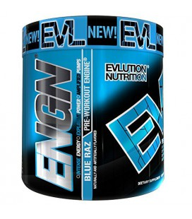 Pré entraînement Engn Par EVLUTION NUTRITION pour hommes et femmes, reformulée Pikatropin formule FREE, 30 portions Bleu Raz
