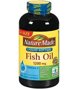 Nature Made Fish Oil Omega-3 1200mg, 300 Softgels