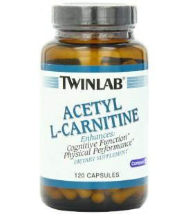 Twinlab acétyl L-Carnitine 500mg, 120 Capsules
