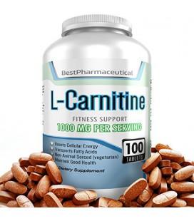 Meilleur Supplément pharmaceutique L-carnitine tartrate acide aminé - 100 comprimés - 1000mg - Boost Cellular Energy Now - Speed