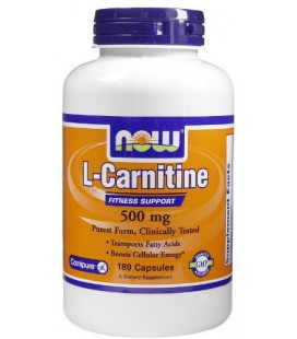 Now Foods Carnitine 500mg, 180 caps ( Multi-Pack)