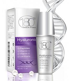 DEAL DU JOUR - 180 Cosmétique - Crème Acide Hyaluronique Forte avec Peptides et de la vitamine C (force maximale) - Meilleur Ant