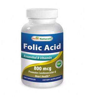 Meilleures Naturals Acide folique 800mcg 240 Capsules