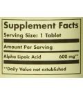 composition Acide Alpha Lipoique 600 mg (50 tablettes) Solgar