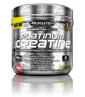 MuscleTech Platinum 100% Creatine, Ultra-Pure micronisée (400 g)