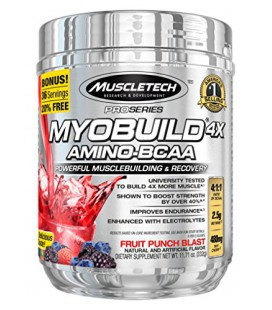 Myobuild 4X Amino-BCAA Fruit Punch (11.71 oz)