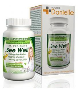 Gelée royale 1500mg, Propolis 1000mg, pollen 750mg (120 capsules vegan)