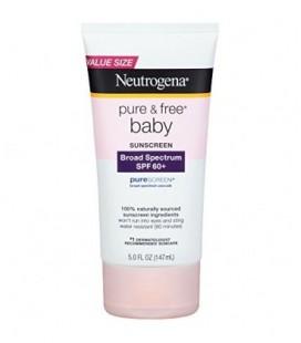 Neutrogena Pure & Free Baby Sunscreen Lotion Broad Spectrum SPF 60+, 5 Fl. Oz