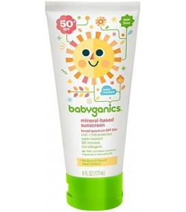 Babyganics Mineral Based Sunscreen - SPF 50+ - Fragrance Free - 6 oz