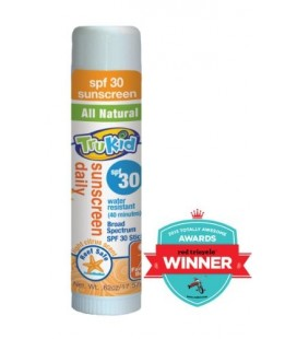 TruKid Sunny Days Daily, Mineral Sunscreen SPF 30, Broad Spectrum, Sweat Resistant, Light Citrus Scent, .62 Oz