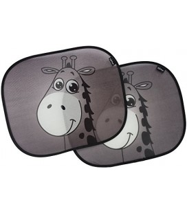 Car sun shades, premium giraffe design sunshade by EZ-Bugz, 2 pieces, shade & protect baby infant child, block UV rays