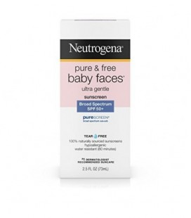 Neutrogena Pure & Free Baby Faces Ultra Gentle Sunscreen Broad Spectrum SPF 45+, 2.5 Oz (Pack of 3)