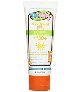 TruBaby Everyday Play, Mineral Sunscreen SPF 30, Broad Spectrum, Light Citrus Scent, 2 Oz