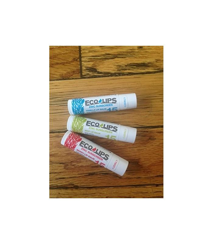 Eco Lips Zinc SPF 15 Sunscreen Lip Balms - Mint, Berry