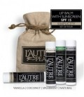 L'AUTRE PEAU SPF 15 Moisturizer Lip Balm, Coconut, Natural, Spearmint and Vanilla Flavors, (Pack of 4)