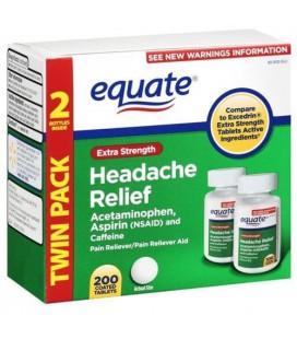Equate - Headache Relief, Extra Strength, Acetaminophen, Asp
