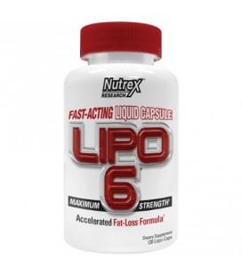 Nutrex LIPO6 Formule perte de graisse accélérée Force maximale 120 Ct