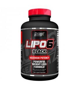 Nutrex Lipo 6 Noir Perte de poids Supplément de soutien 120 Capsules