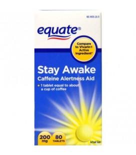 equate Stay Awake Max Force caféine aide à 200 mg Vivacité d'esprit comprimés 80 Ct