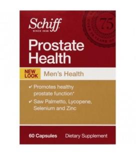 Schiff Santé de la prostate avec Palmetto le lycopène le sélénium et le zinc Supplément de la prostate 60 ct (Paquet de 4)