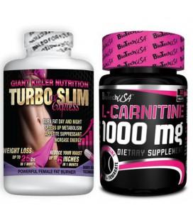 Pack Ventre Plat Turbo Slim et L-Carnitine