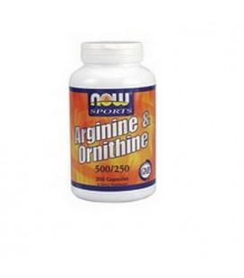 NOW Foods Sports Arginine/Ornithine 500/250, 100 Capsules