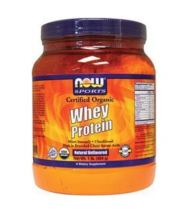 Whey Protein - Certified Organic Natural Unflavored 1 lbs