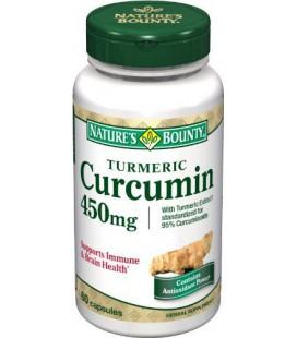 Nature's Bounty Turmeric/Curcumin, 60 Capsules, 450 Mg