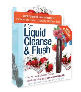 Applied Nutrition 5-Day Liquid Cleanse & Flush, Fast-Acting Mixed Berry Total Body Cleanse, 10-Twist Tubes Box