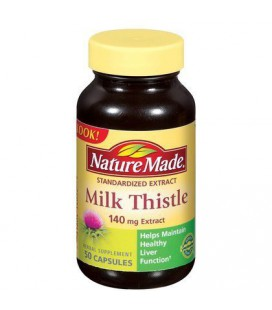 Nature Made Milk Thistle Standard Extract, 140mg, 50-Count