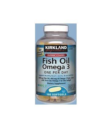 Kirkland signature enteric coated fish oil omega 3 1200 mg f for Kirkland signature fish oil