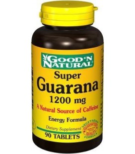 Super Guarana 1200mg - 90 tabs,(Good'n Natural)