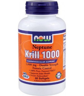 Now Foods Neptune Krill Oil 1000mg Soft-gels, 60-Count