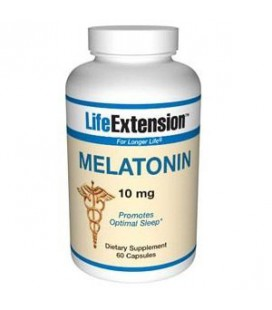 Life Extension Melatonin, 10 mg, Capsules, 60-Count