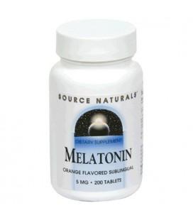 Source Naturals Melatonin 5mg,Orange, 200 Tablets