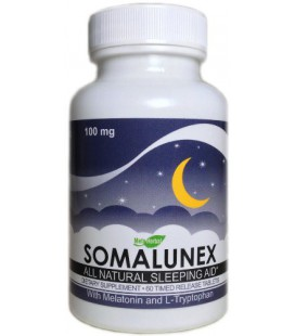 SomaLunex 100mg: Extra Strength Sleeping Pills Melatonin, L-Tryptophan, Chamomile, Valerian, & St Johns Wort