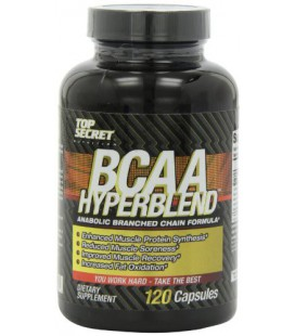 Top Secret Nutrition Bcaa Hyperblend Anabolic Capsules, 120 Count
