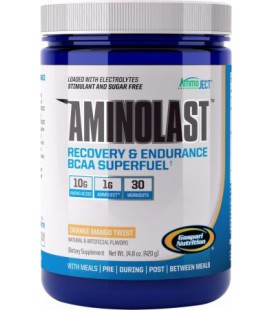 Gaspari Nutrition - AminoLast Recovery & Endurance BCAA Superfuel Fruit Punch 30 Servings - 14.8 oz.