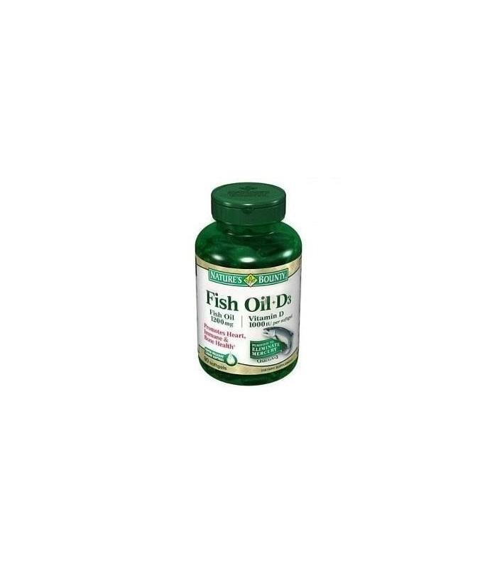 Nature 39 s bounty omega 3 plus d3 fish oil 1200 mg vitamin d 1 for Nature s bounty fish oil 1200 mg