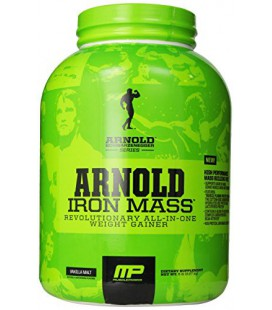 Muscle Pharm Arnold Schwarzenegger Series Iron Mass Weight Gainer, Vanilla Malt, 5 Pound